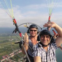 paragliding with instructor in batumi