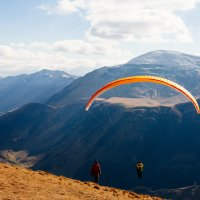 gudauri paragliding with instructor