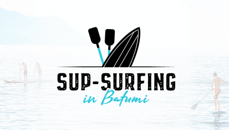 Sup-surfing in Batumi